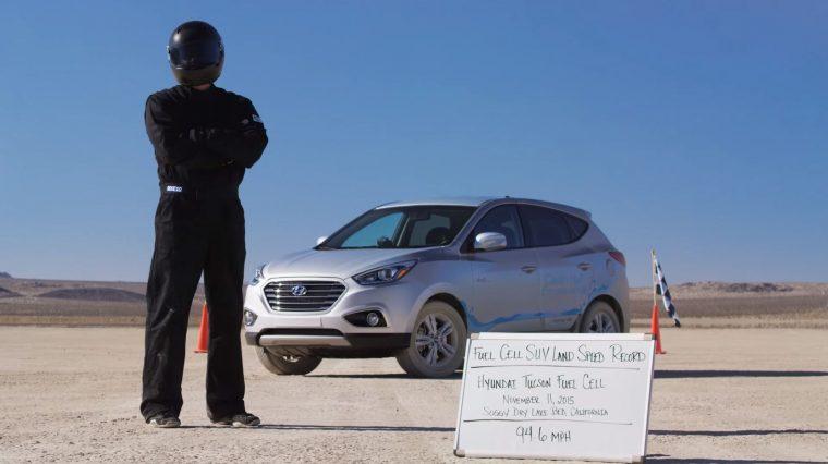 Hyundai Tucson SUV sets land speed record for hydrogen powered SUV
