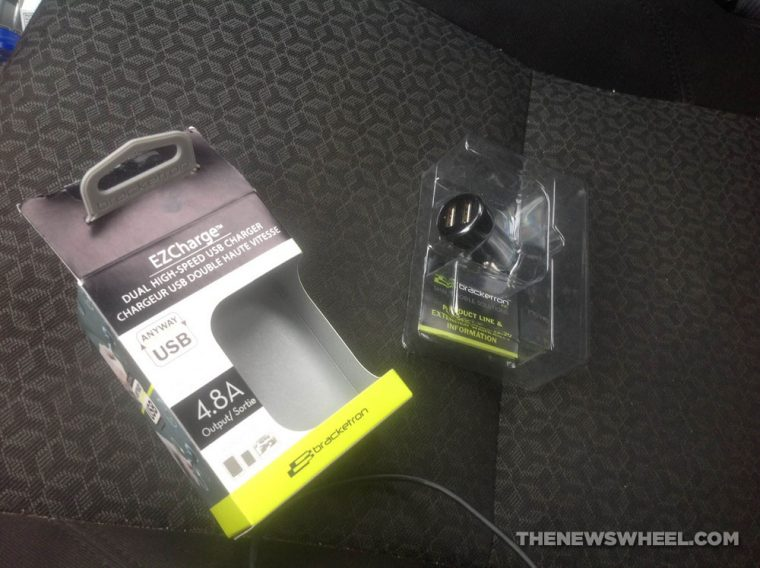 Bracketron EZCharge Pro Dual 4.8A car charger