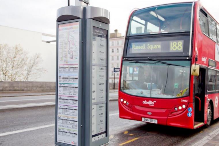 London E-Paper Bus Stop