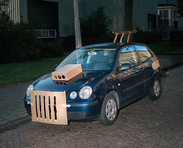 Max Siedentopf Cardboard Cutout Car with Grille