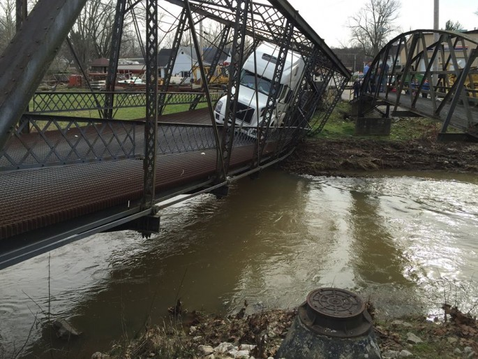 Semi Bridge Collapse
