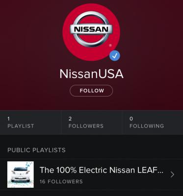 Spotify Nissan LEAF 5th Birthday 2