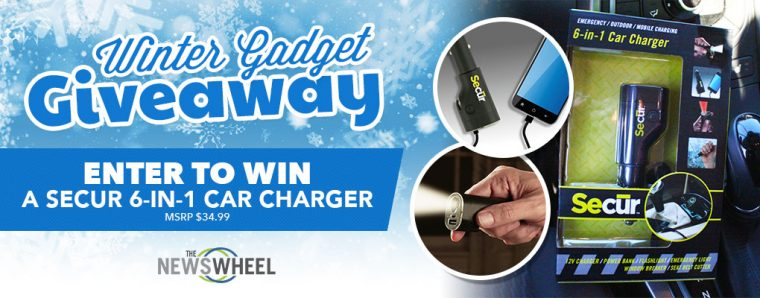 TNW Giveaway winter gadget Secur 6-in-1 car charger banner