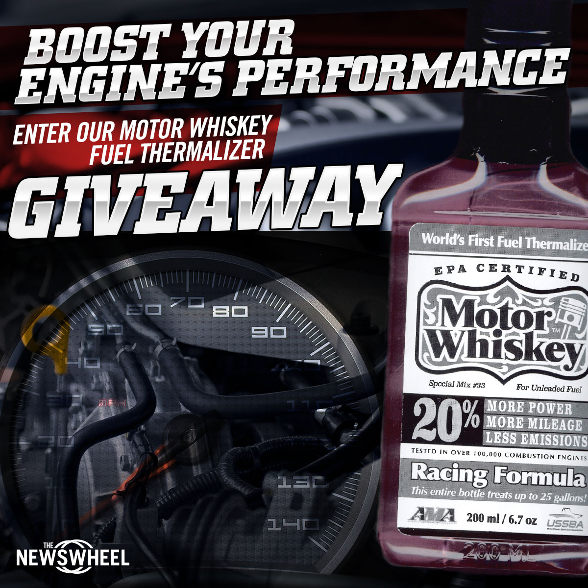 motor whiskey additive giveaway