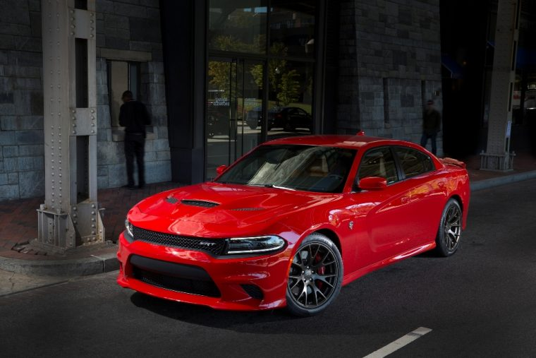 The 2016 Dodge Charger Hellcat features a 6.2-liter V8 HEMI® supercharged engine