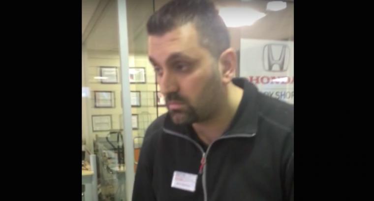 Toronto Honda dealership employee tells customer I cant hear you in video
