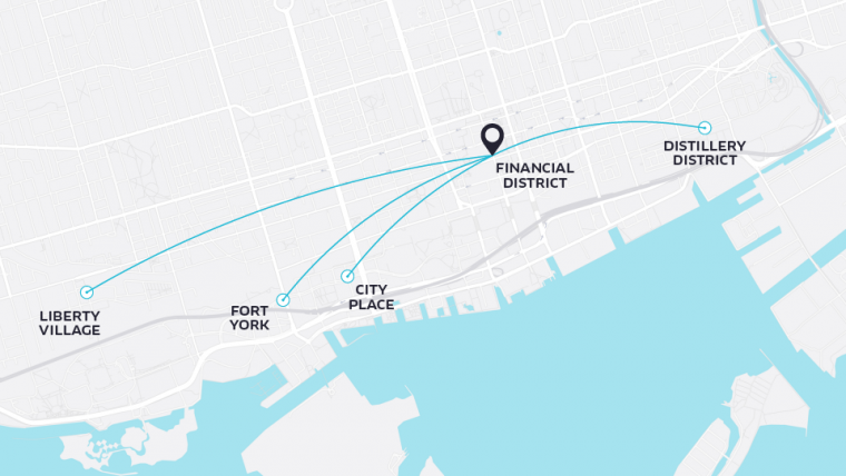 UberHop Toronto Routes