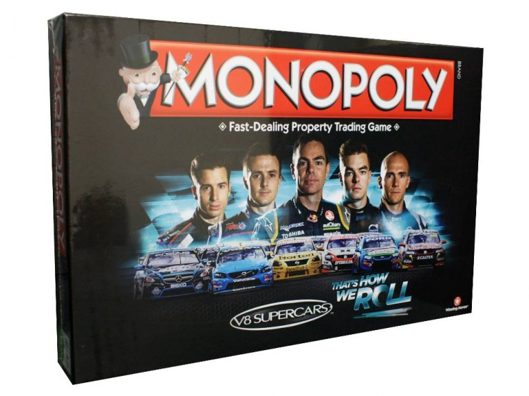 V8 Supercars Edition Monopoly board game