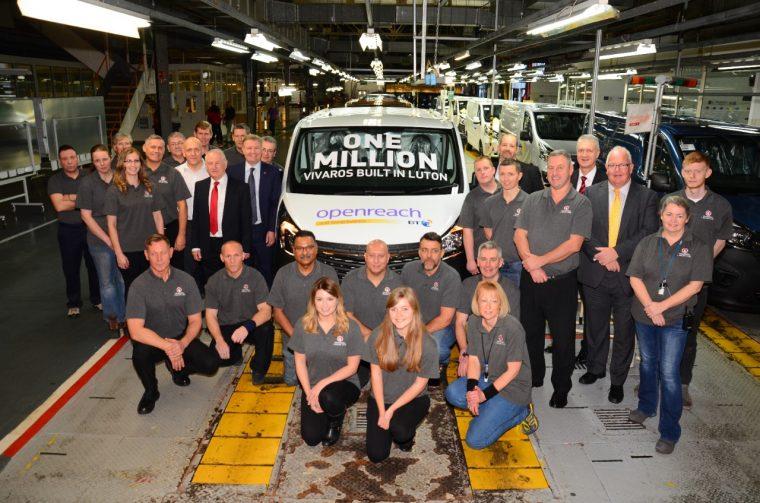 1 millionth Vauxhall Vivaro built in Luton