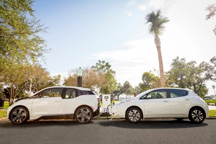 Nissan LEAF and BMW i3