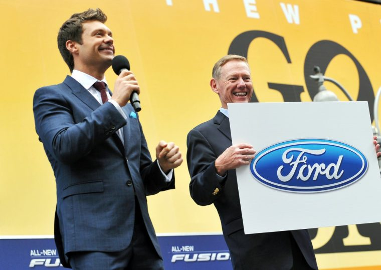 Ryan Seacrest and Alan Mulally