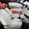Interior of the 2016 Fiat 500e