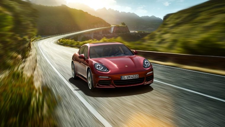 Exterior of the red 2016 Porsche Panamera