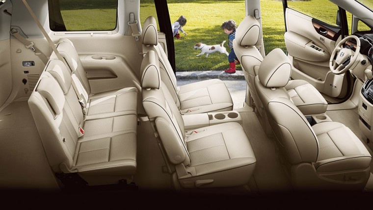 Sixteen cup and bottle holders come standard in the 2016 Nissan Quest