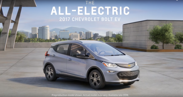 2017 Chevy Bolt EV commercial