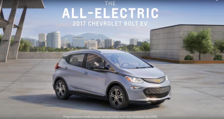 2017 Chevy Bolt EV commercial