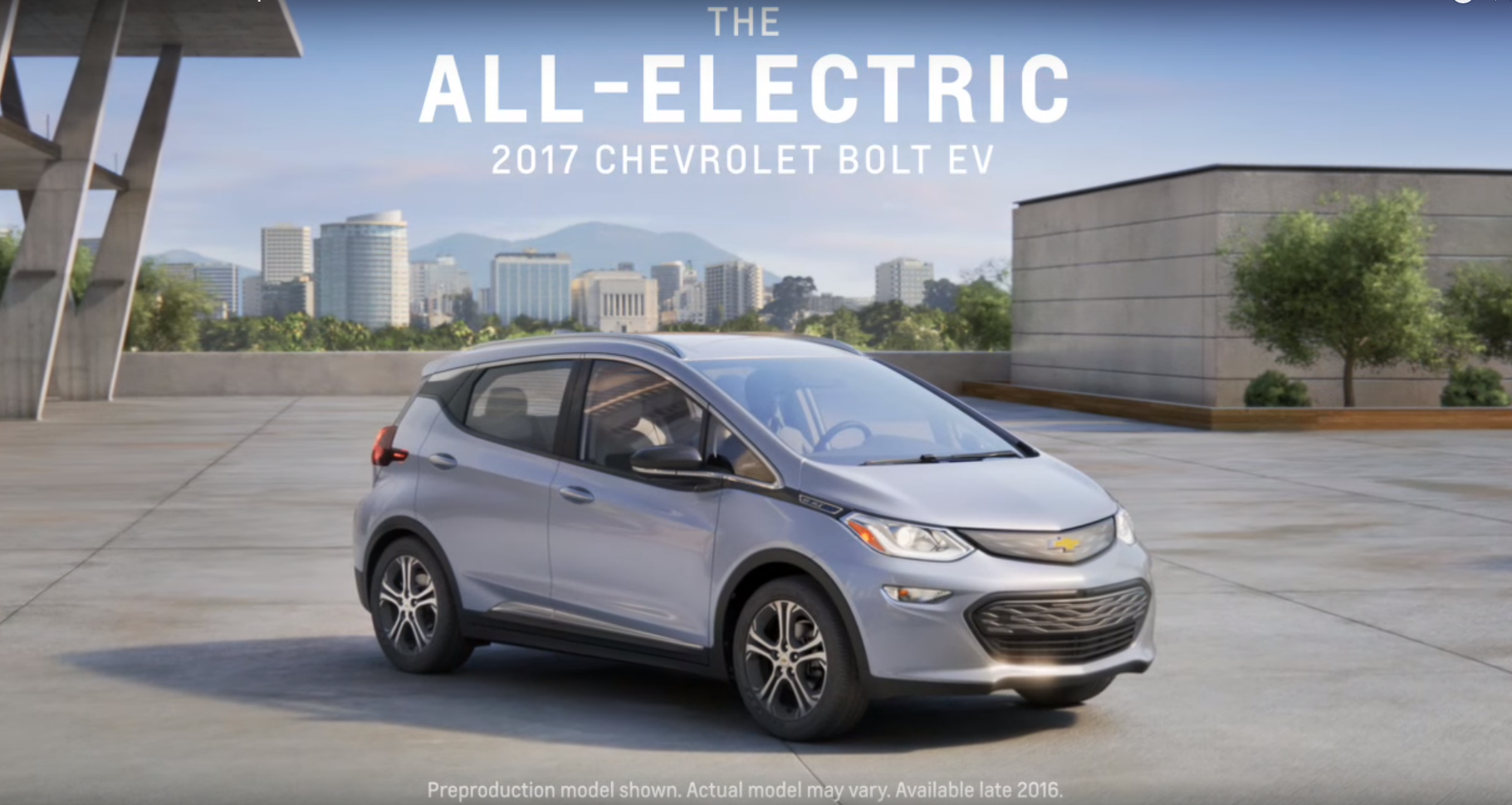 here s the first commercial for the 2017 chevy bolt ev the news wheel. Black Bedroom Furniture Sets. Home Design Ideas