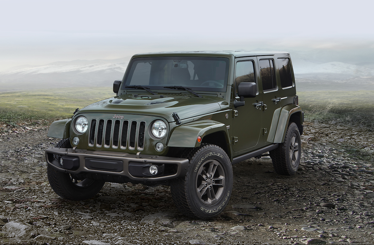 2016 jeep wrangler unlimited 75th anniversary edition the news wheel. Black Bedroom Furniture Sets. Home Design Ideas
