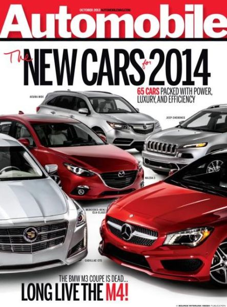 Automobile magazine cover