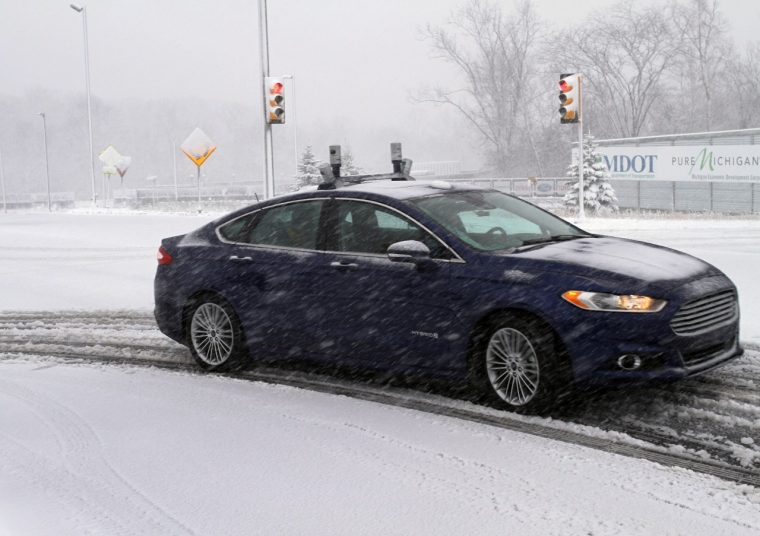 Ford Winter Autonomous Vehicle Testing