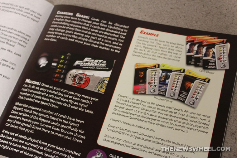 Game Salute Fast & Furious Full Throttle Street Racing Board Game Review instructions