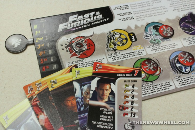 Game Salute Fast & Furious Full Throttle Street Racing Board Game Review player cards