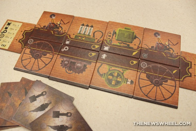 Gear & Piston automotive board game review tiles