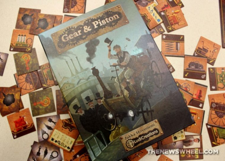 Gear & Piston board game review LudiCreations box cover