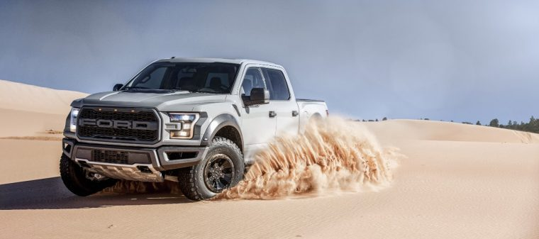 Gray F-150 Raptor SuperCrew Dunes