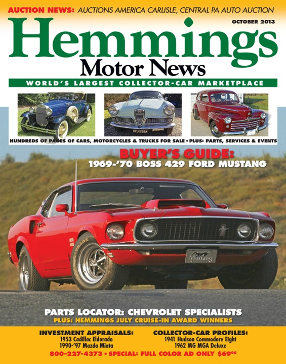 Hemmings motor news magazine cover