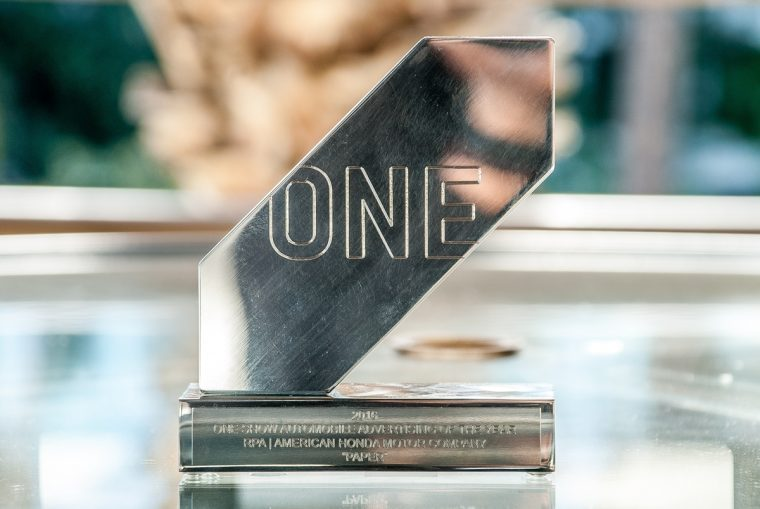 "Honda One Show Award won for stop-motion ad ""Paper"" at 2016 Automobile Advertising of the Year Awards in Detroit"