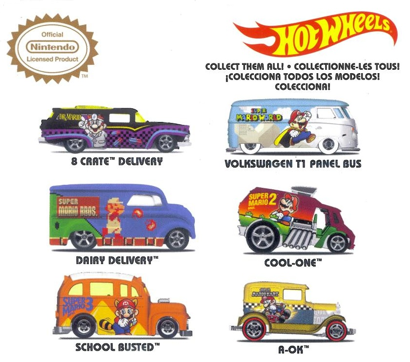 Hot Wheels Super Mario Bros Cart cars collection