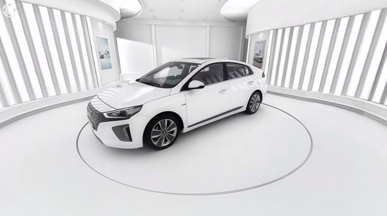 Hyundai Ioniq hyrbid 360 VR view video exterior