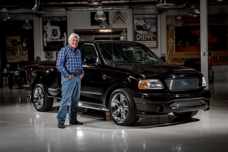 Jay Leno with his Harley-Davidson F-150