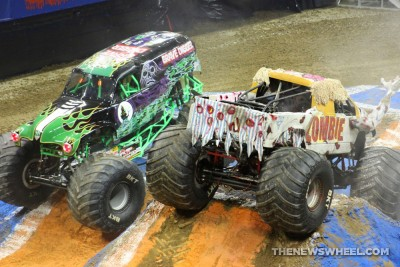 Monster Jam Show Dayton Zombie and Grave Digger trucks