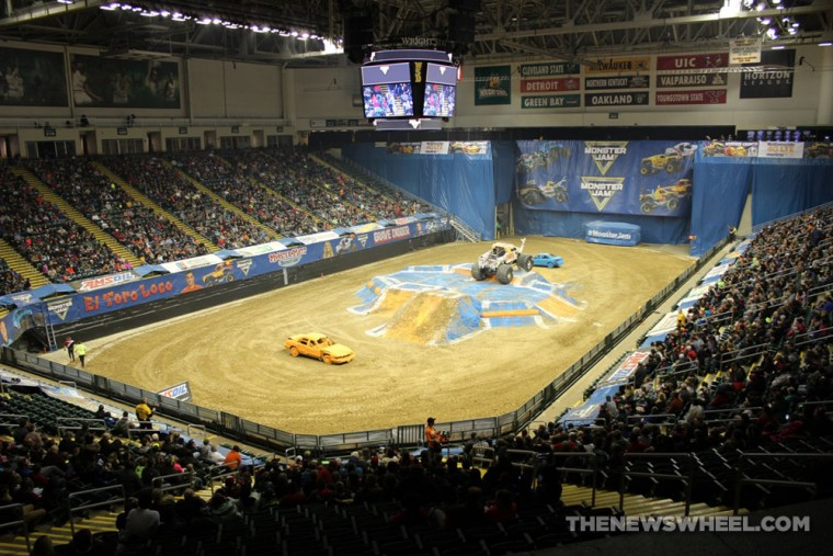 Monster Jam dirt track for trucks Dayton construction