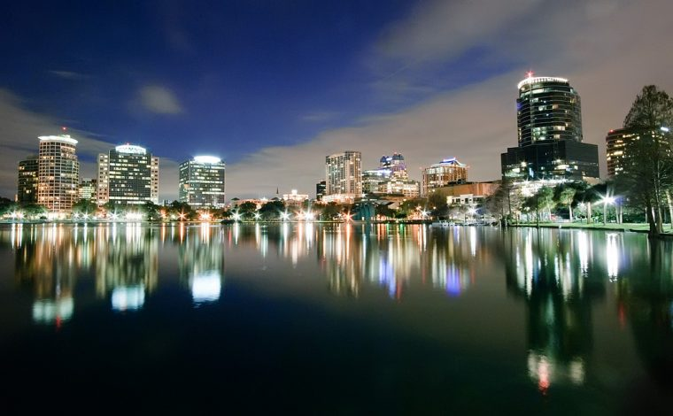 Orlando Florida night skyline