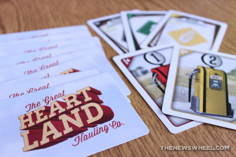 The Great Heartland Hauling Co. Trucking Board Game review cards