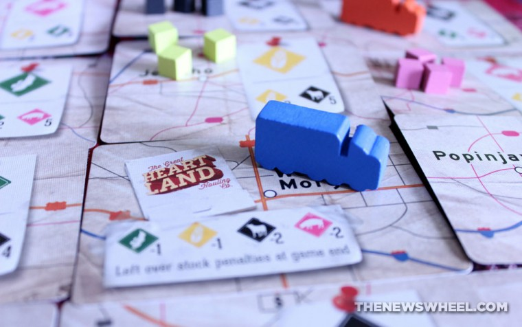 The Great Heartland Hauling Co. Trucking Board Game review components