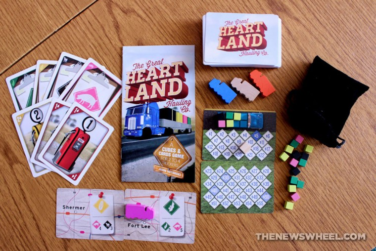 The Great Heartland Hauling Co. Trucking Board Game review unboxing