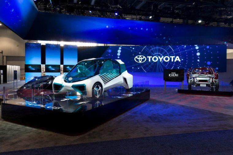 Toyota CES 2016 display