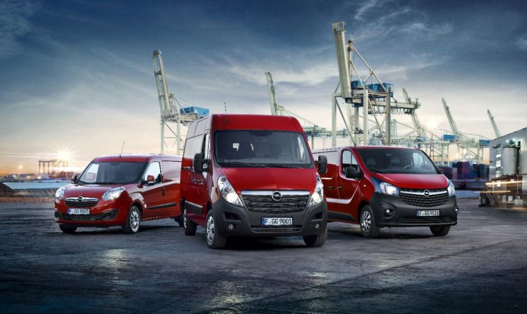 Opel light commercial vehicle lineup