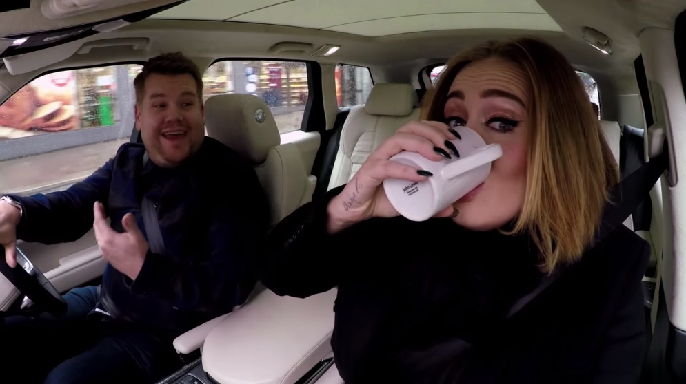 2016 Nissan Juke >> Adele and James Corden Say Hello From His Car - The News Wheel
