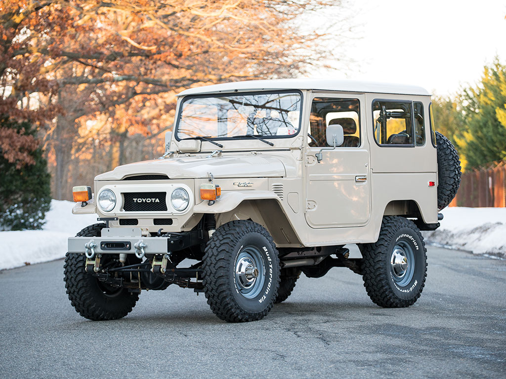 bid on this classic 1978 toyota fj40 land cruiser right now the news wheel. Black Bedroom Furniture Sets. Home Design Ideas