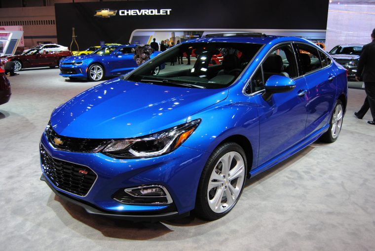 The 2016 Chevy Cruze Premium on display at the 2016 Chicago Auto Show