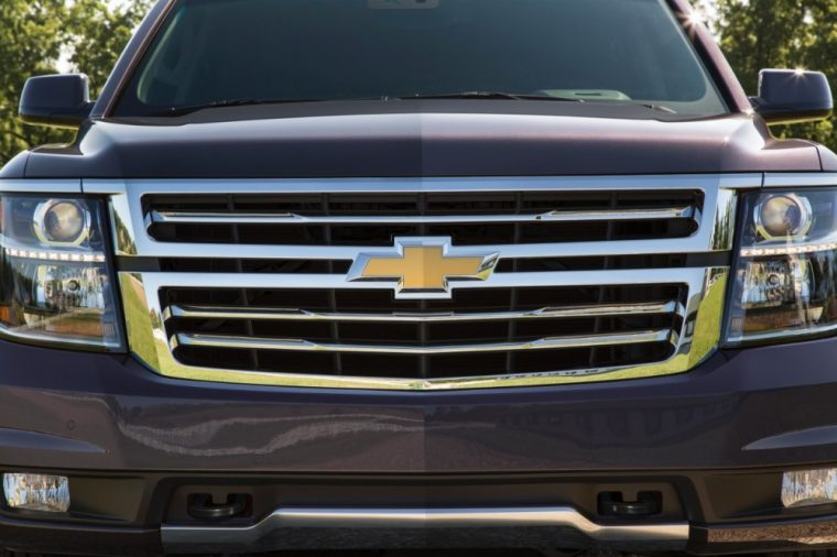 The 2016 Chevy Tahoe comes with a unique front grille