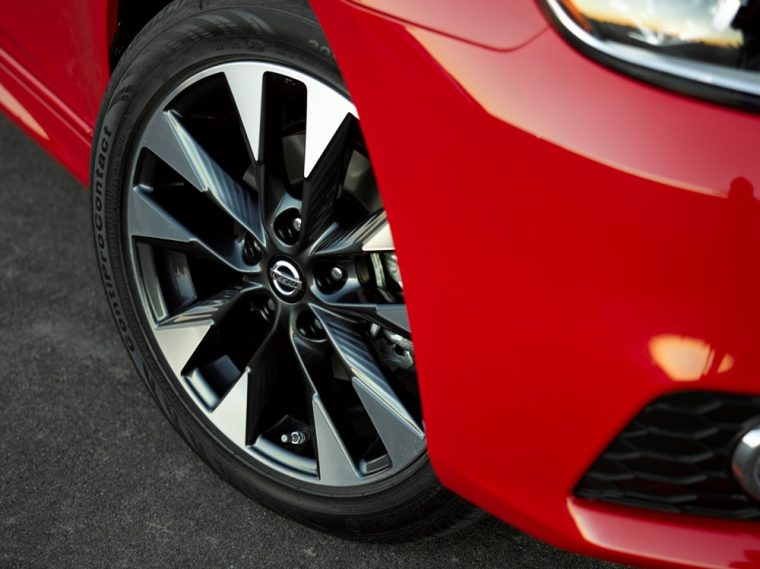 The 2016 Nissan Sentra comes standard with 16-inch steel wheels