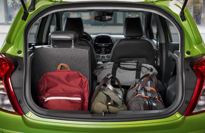 2016 Chevy Spark rear cargo space