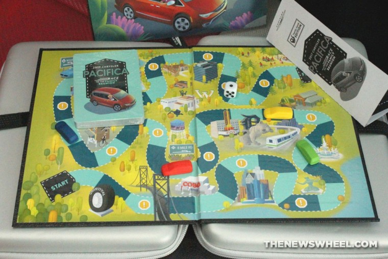 2017 Chrysler Pacifica Race to the Family Reunion board game review