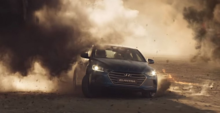 2017 Hyundai Elantra Space Shuttle Crew Rescue Extreme Boldness Commercial driving